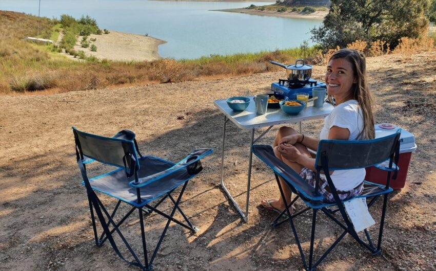 Camping experience with tent